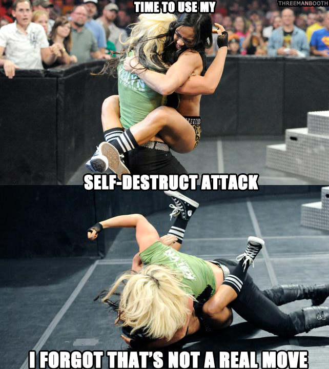 Wwe Aj Lee Sexiest Moments Aj lee and kaitlyn brawl with