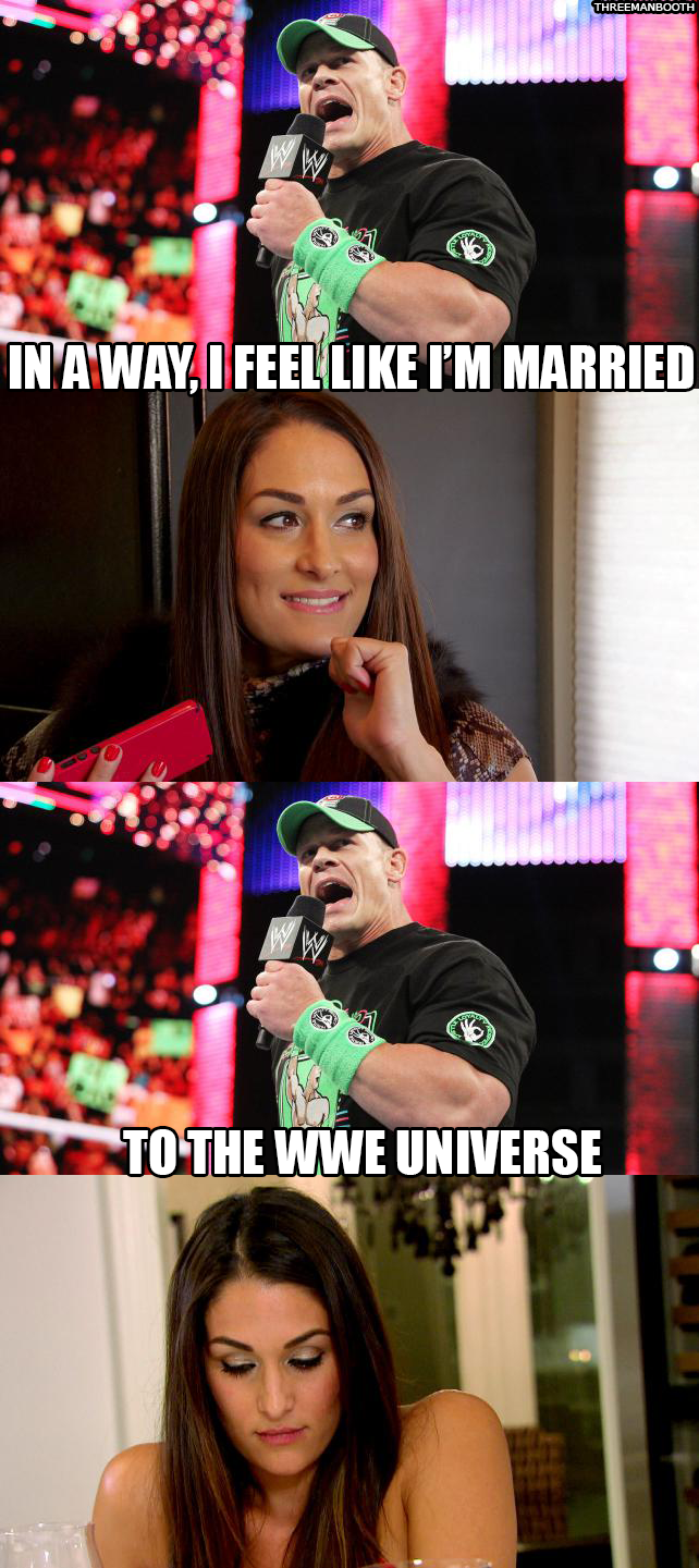 Cena And Nikki Bella Break Up And john cena's refusal to never give up ...